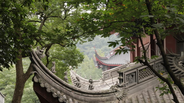 part of temple in hangzhou,china - chan buddhism stock videos & royalty-free footage