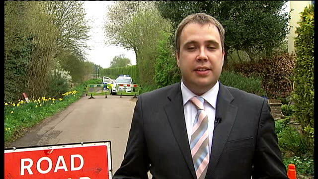 part of torso found in hertfordshire; england: hertfordshire: standon: ext reporter to camera - torso stock videos & royalty-free footage