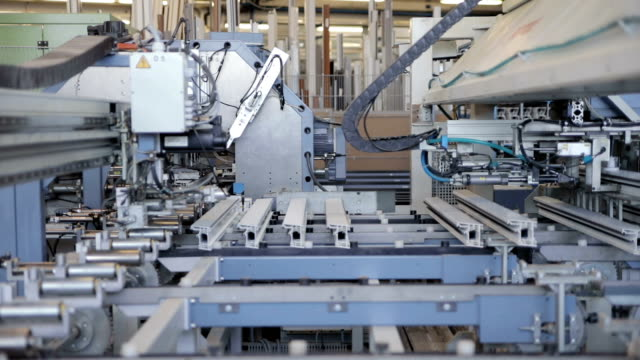 part of window frame production line - window frame stock videos and b-roll footage