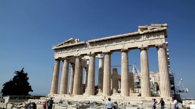 parthenon, acropolis, athens, greece - parthenon athens stock videos & royalty-free footage