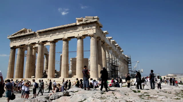 parthenon, acropolis, athens, greece - griechenland stock-videos und b-roll-filmmaterial