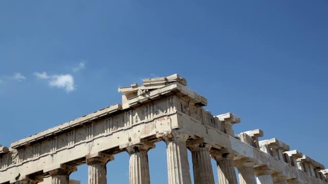 vídeos de stock, filmes e b-roll de parthenon, acropolis, athens, greece - partenão acrópole