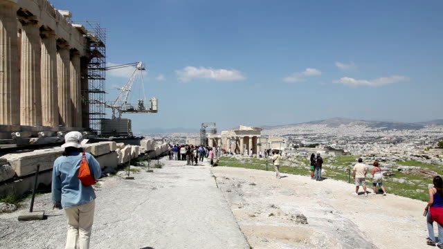 parthenon, acropolis, athens, greece - parthenon athens stock videos & royalty-free footage
