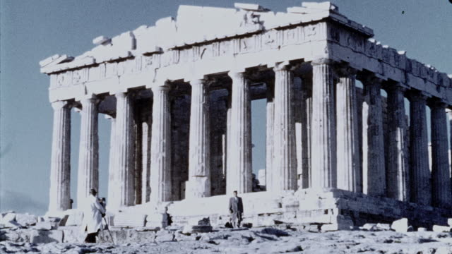 parthenon, athens greece in 1946 - archaeology stock videos & royalty-free footage