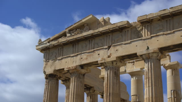 parthenon detail - parthenon athens stock videos and b-roll footage