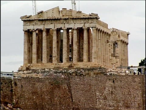 Parthenon on Acropolis hill Athens