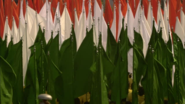participants carry flags of india during the india republic day parade. - parade stock videos & royalty-free footage
