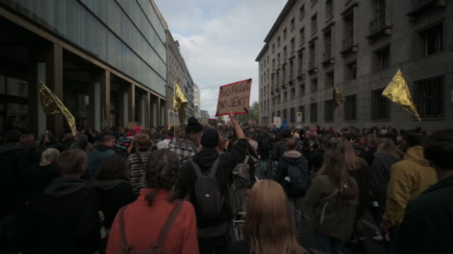 participants dance during the strike 'no future no dancefloor' a part of a global climate action day with techno and electronic dance music - techno music stock videos & royalty-free footage