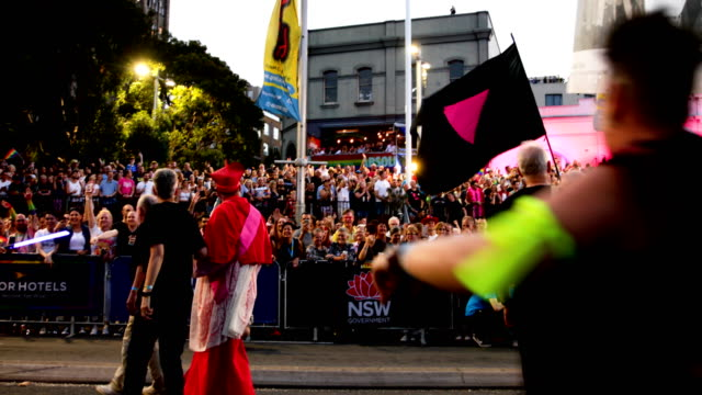 Participants gets in the spirit during the 2019 Sydney Gay Lesbian Mardi Gras Parade on March 02 2019 in Sydney Australia The Sydney Mardi Gras...