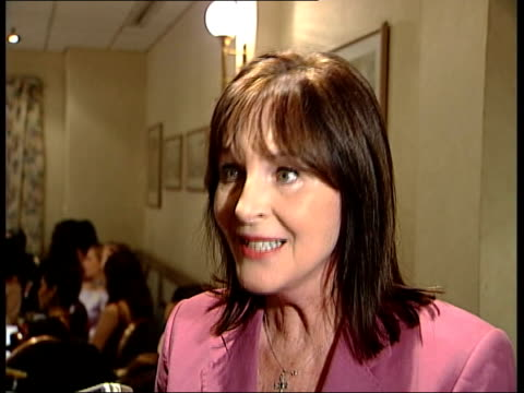participants in london after nigeria violence; julia morley interview sot - talks of violence in nigeria not being the fault of the miss world... - miss world pageant stock videos & royalty-free footage