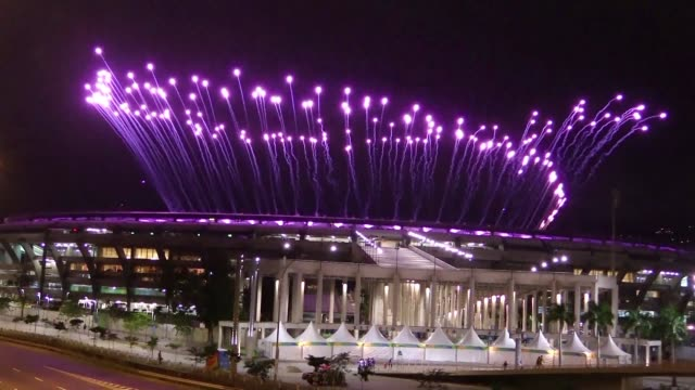 participants in the rio olympics opening ceremony feel the excitment the day before the games commence - opening ceremony stock videos & royalty-free footage