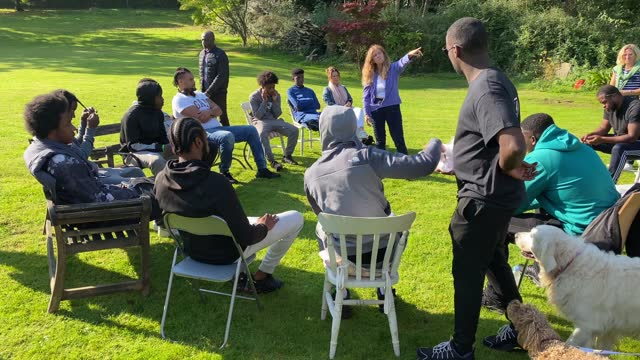 participants take part in key4life's rehabilitation program which includes work with horses at the residential retreat centre on september 22, 2021... - only young men stock videos & royalty-free footage