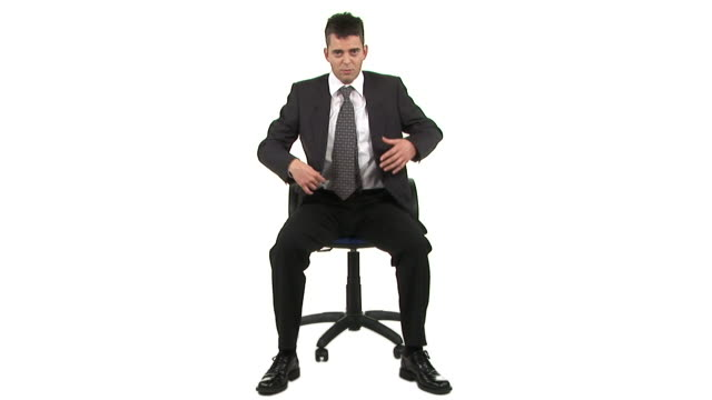 hd: participating in a meeting - office chair stock videos & royalty-free footage