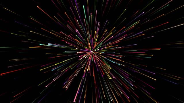 vídeos y material grabado en eventos de stock de fondo abstracto de las partículas - conceptos