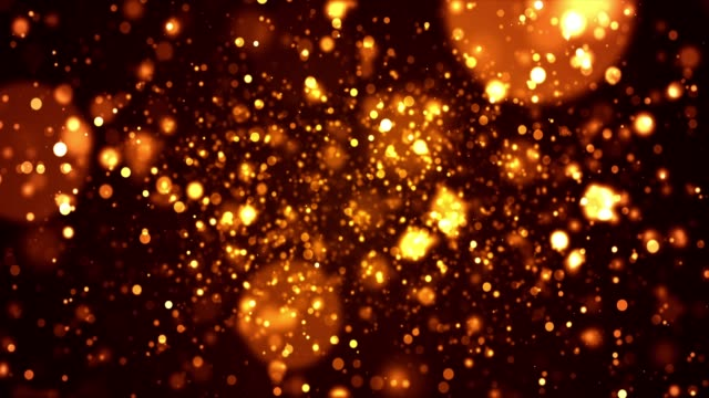 4k particle bacground - gold colored stock videos & royalty-free footage