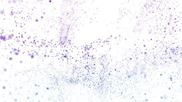4k パーティクルの背景(ループ可能) - 白背景点の映像素材/bロール