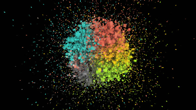 particle background - liyao xie stock videos & royalty-free footage