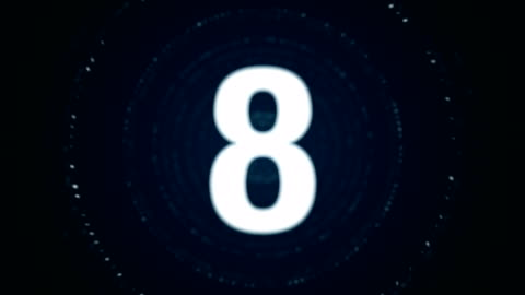4 k partikel countdown - lager video - nedräkning bildbanksvideor och videomaterial från bakom kulisserna