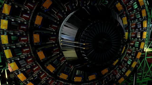 lhc-detektor höhle partikellabor - kernenergie stock-videos und b-roll-filmmaterial