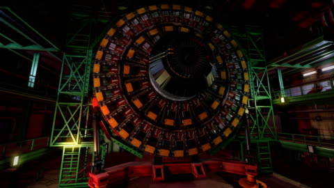 lhc particle detector warning lab alarm - nuclear energy stock videos & royalty-free footage