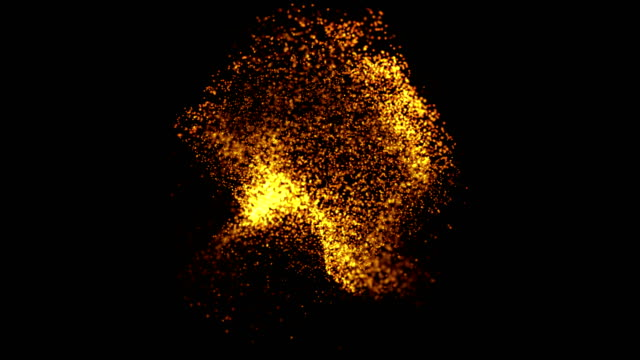 particle explosion 4k - gold colored stock videos & royalty-free footage