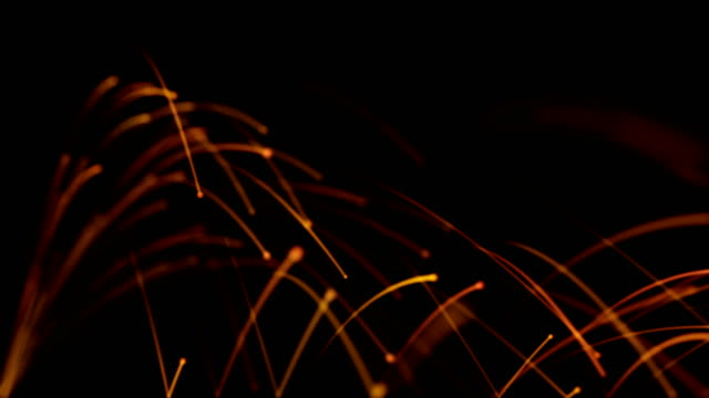 particle explosion - welding sparks 4k - rimbalzare video stock e b–roll