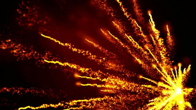 粒子花火爆発 - 彗星点の映像素材/bロール