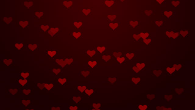 particle flying hearts valentine's day abstract background 4k stock video - heart stock videos & royalty-free footage
