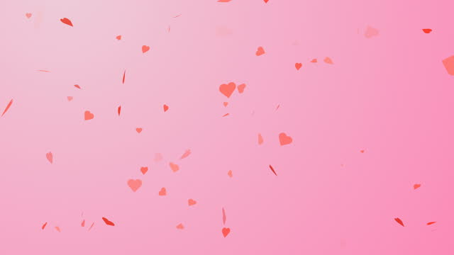 particle flying hearts valentine's day abstract background 4k - ornate stock videos & royalty-free footage