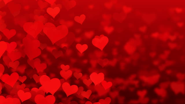particle flying hearts valentine's day abstract background 4k - human body part stock videos & royalty-free footage