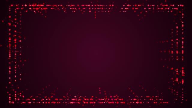 パーティクルフレームデジタルオーバーレイディスプレイ - 映像処理 マット点の映像素材/bロール