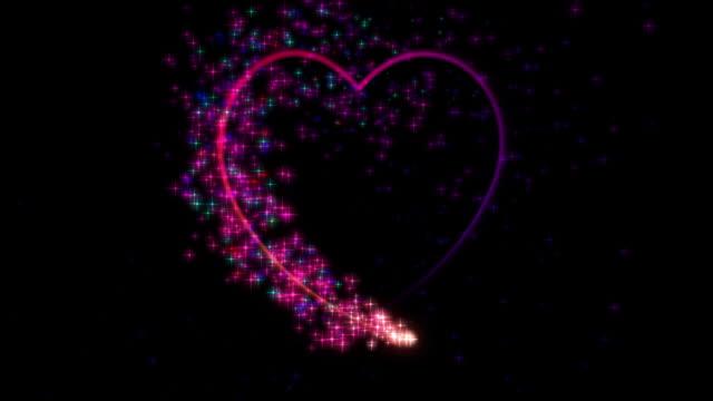 vídeos y material grabado en eventos de stock de partícula el corazón con canal alfa elemento de alta definición - tarjeta del día de san valentín