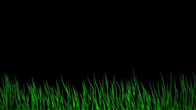 Particle waves - abstract grass with Alpha