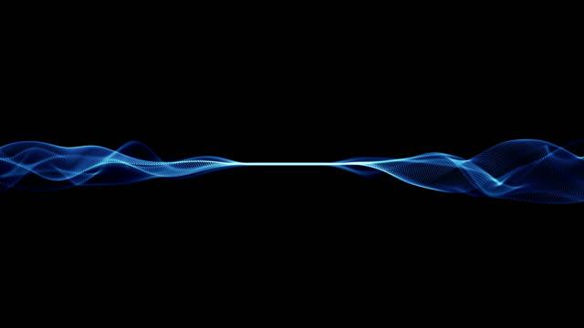 vídeos de stock, filmes e b-roll de ondas de partículas loop 4k - changing form