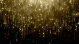 Particles gold glitter bokeh award dust abstract background loop