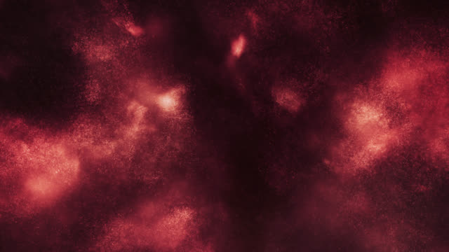 particles in motion (red) - loop - red cloud sky stock videos & royalty-free footage