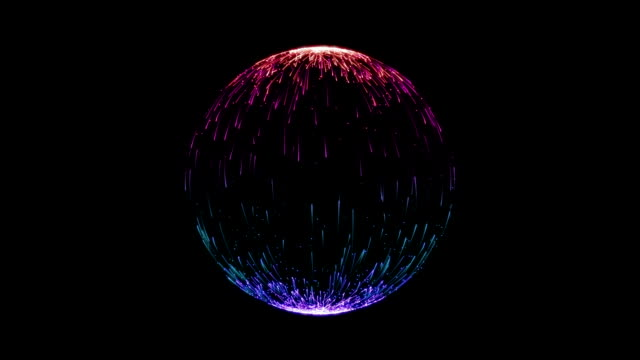 Particles Sphere Colorful Blue Purple Looping