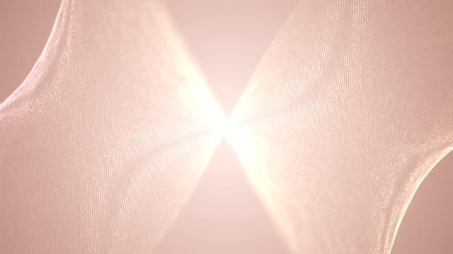 stockvideo's en b-roll-footage met deeltjes golven achtergrond oneindige lus - loop elementen