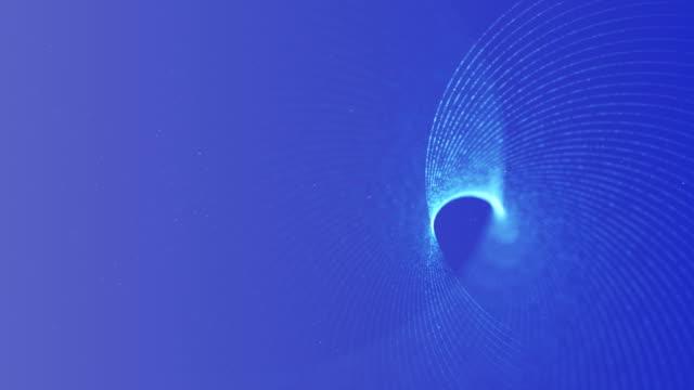 Deeltjes golven achtergrond oneindige lus