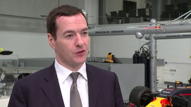 Parties prepare for electoral tests across the country Osborne visits Red Bull Racing ENGLAND Buckinghamshire Milton Keynes Red Bull Racing INT...