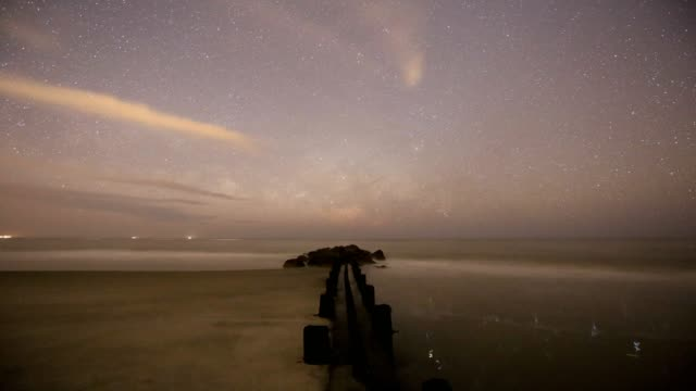 Partly Cloudy Milky Way Time Lapse