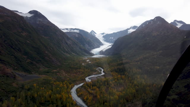 parts of a glacier are seen in the kenai mountains on september 06, 2019 near primrose, alaska. scientists from the u.s. geological survey have been... - kenai stock videos & royalty-free footage