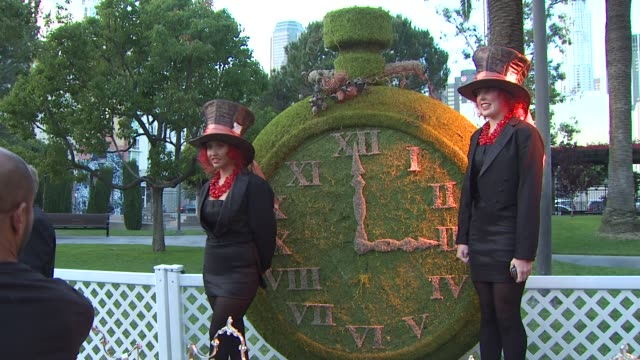 party at the opening night of fidm exhibit for walt disney studios 'alice in wonderland' at los angeles ca - alice in wonderland stock videos and b-roll footage