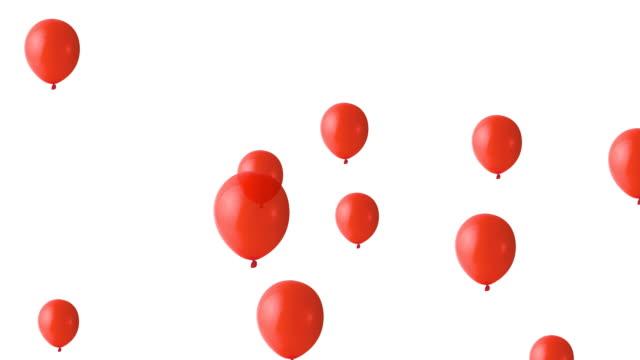 Party balloons rising up, loop version