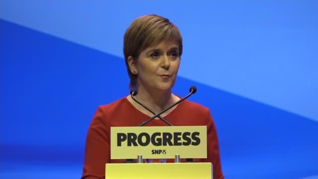Nicola Sturgeon keynote speech Nicola Sturgeon MSP speech SOT On infrastructure Built queens ferry crossing Progress good for Scotland Last week May...