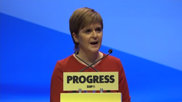 Nicola Sturgeon keynote speech Nicola Sturgeon MSP speech SOT You asked us to tackle period poverty Announced free sanitary products in schools...
