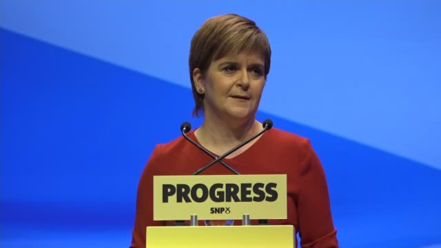 Nicola Sturgeon keynote speech Nicola Sturgeon MSP onto stage to applause and speech SOT Seen and heard how much we all love you At the risk of...
