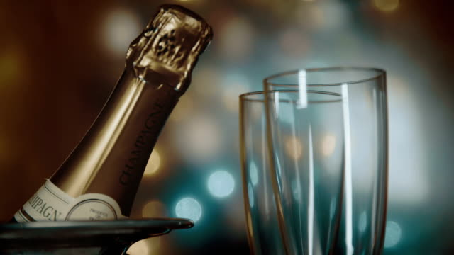 party feeling with champagne - still life stock videos and b-roll footage