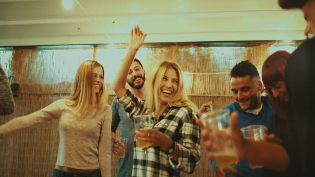 party friends go wild and dance hard - university stock videos & royalty-free footage