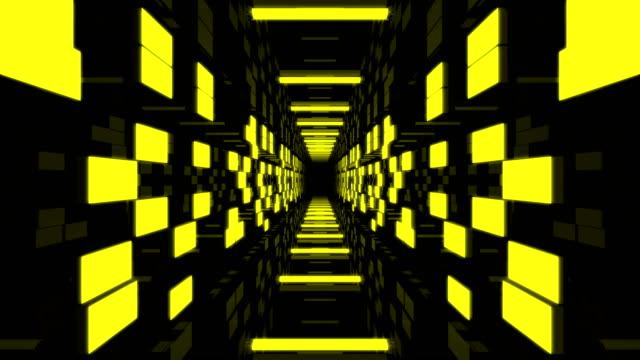 vidéos et rushes de 3d tunnel partie boucle - tunnel